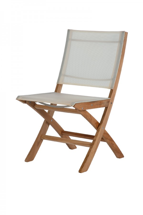 Barlow Tyrie Horizon Folding Side Chair Pearl