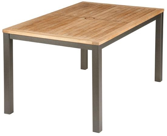 Barlow Tyrie Aura Dining Table (150) Graphite