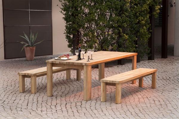 Barlow Tyrie Titan Dining Table 240cm - Rustic Teak