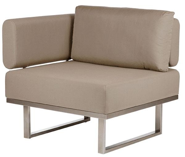 Barlow Tyrie Mercury Deep Seating Module Left Taupe