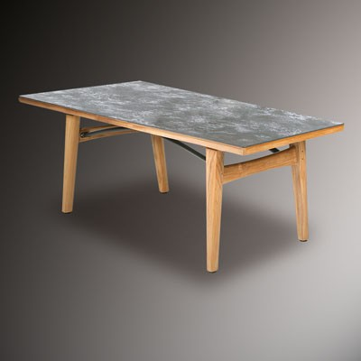 Barlow Tyrie Monterey Dining Table 200cm - Teak & Ceramic - Oxide .805