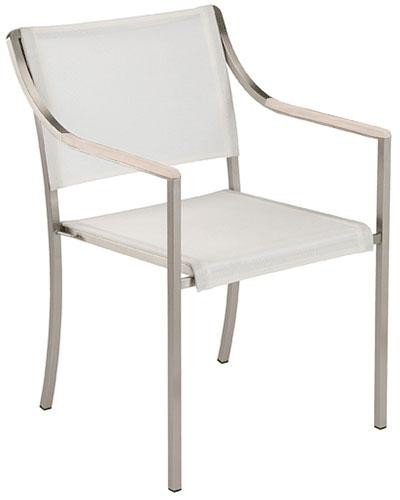 Barlow Tyrie Quattro Armchair Pearl With White Armrest