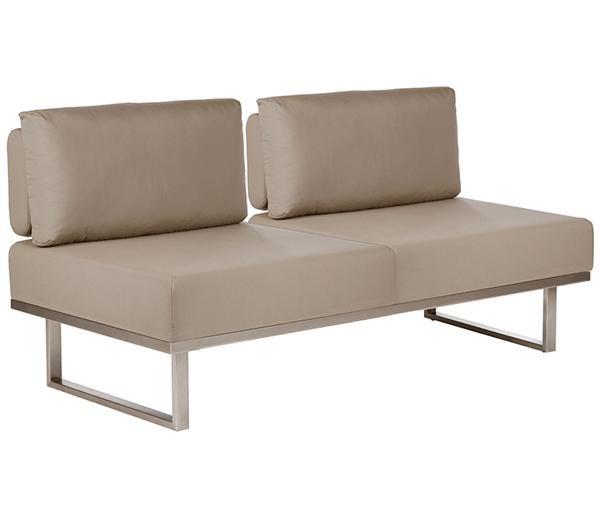 Barlow Tyrie Mercury Deep Seating Sofa Taupe