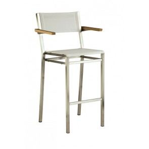 Barlow Tyrie Equinox High Dining Carver Chair Pearl