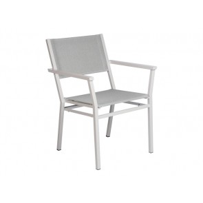 Barlow Tyrie Equinox Armchair Powder Coated Arctic White