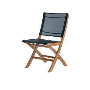 Barlow Tyrie Horizon Folding Side Chair Charcoal