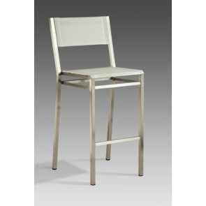 Barlow Tyrie Equinox High Side Dining Carver Chair Platinum