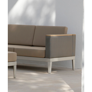 Barlow Tyrie Aura Deep Seating Two Seater Settee - Champagne