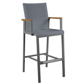 Barlow Tyrie Aura High Dining Carver Chair Graphite