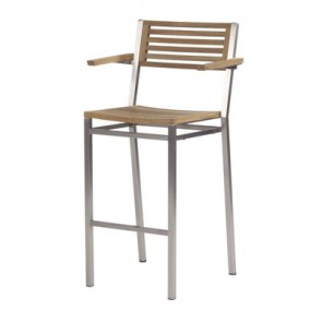 Barlow Tyrie Equinox High Dining Carver Chair Teak