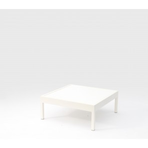 Leoni Outdoor Coffee Table White With HPL Top
