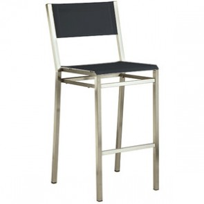 Barlow Tyrie Equinox High Dining Side Chair Charcoal