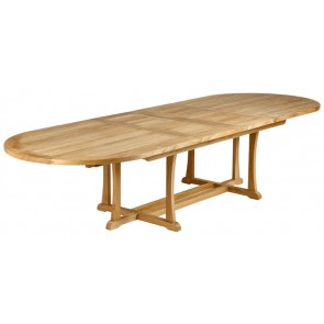 Barlow Tyrie Stirling Oval Extending Dining Table