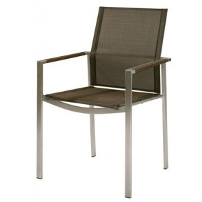 Barlow Tyrie Mercury Armchair Charcoal With Graphite Armrest