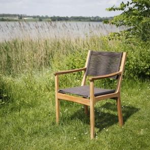 Barlow Tyrie Monterey Armchair - Teak & Cord - Brown.400