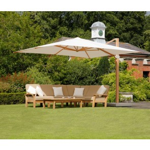 Barlow Tyrie Napoli 4m Square Cantilever Parasol