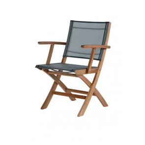 Barlow Tyrie Horizon Folding Carver Chair Platinum