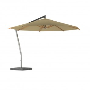 Royal Botania Shady X-Centric Garden Umbrella Stainless Steel Centered Pole And Teak  Ribs