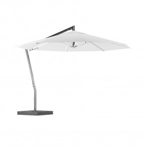 Royal Botania Shady X-Centric Garden Umbrella Stainless Steel Centered Pole And Coated Aluminum Ribs