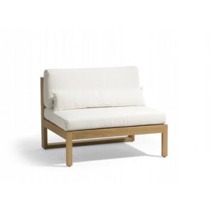 Manutti Siena Teak Lounge Large Middle Seat