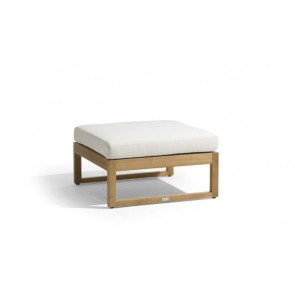 Manutti Siena Teak Lounge Medium Footstool/Side Table