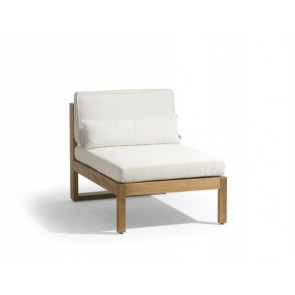 Manutti Siena Teak Lounge Small Middle Seat