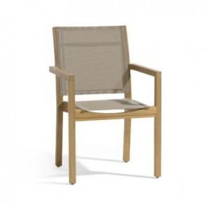 Manutti Siena Teak Textiles Chair