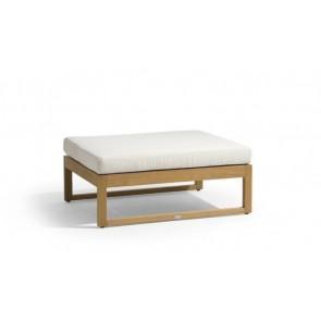 Manutti Siena Teak Lounge Large Footstool/SideTable