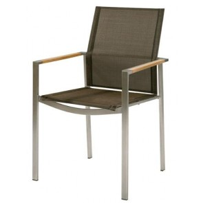 Barlow Tyrie Mercury Armchair Charcoal With Teak Armrest