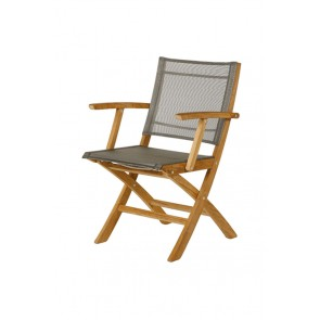 Barlow Tyrie Horizon Folding Carver Chair Titanium