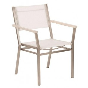 Barlow Tyrie Equinox Armchair Pearl With White Armrest