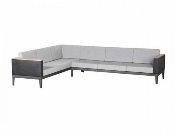 Barlow Tyrie Aura Deep Seating Six Seater Corner Settee - Graphite