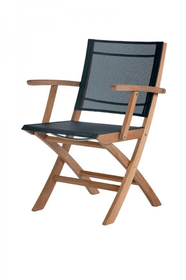 Barlow Tyrie Horizon Folding Carver Chair Charcoal