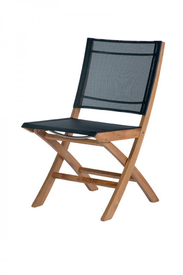 Barlow Tyrie Horizon Folding Side Chair Charcoal