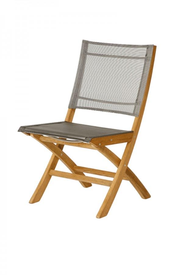 Barlow Tyrie Horizon Folding Side Chair Titanium