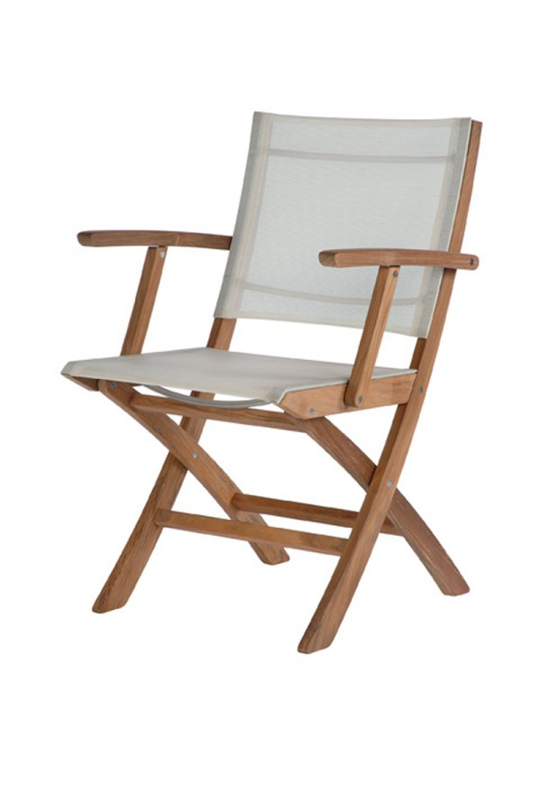 Barlow Tyrie Horizon Folding Carver Chair Pearl