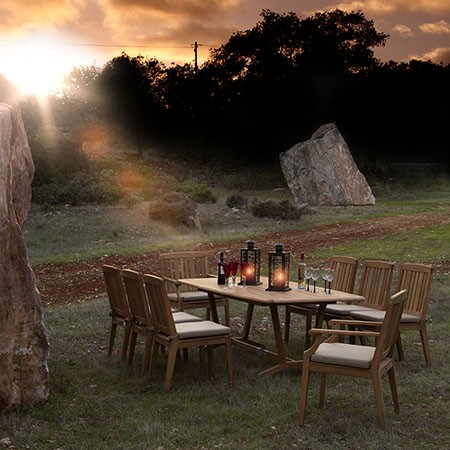 Barlow Tyrie Chesapeake Rectangular Dining Table 200cm