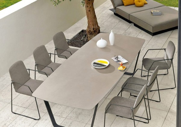 Manutti Air Dining Table - 340 x 118 - (White Frame with Ceramic)