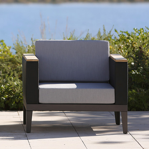 Barlow Tyre Aura Deep Seating Modular Armchair - Graphite Frame With Charcoal Sling
