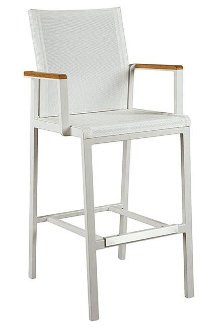 Barlow Tyrie Aura High Dining Carver Chair Arctic White