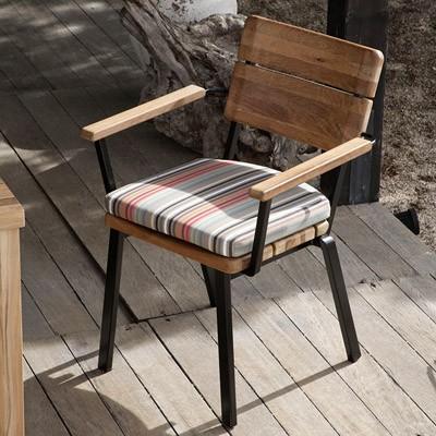 Barlow Tyrie Titan Armchair - Rustic Teak and Aluminium