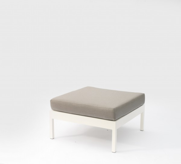 Leoni Outdoor Ottoman White