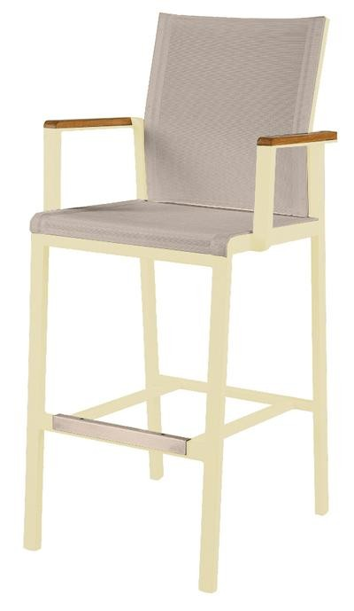 Barlow Tyrie Aura High Dining Carver Chair Champagne