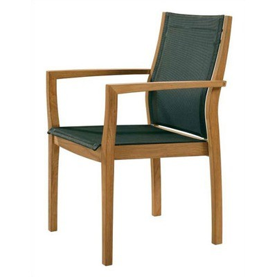 Barlow Tyrie Horizon Armchair With Fabric Sling Charcoal