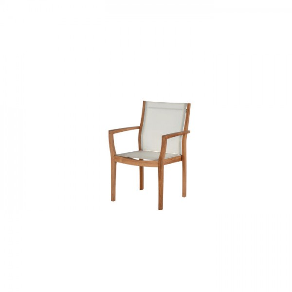 Barlow Tyrie Horizon Armchair With Fabric Sling Pearl