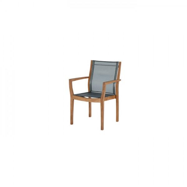Barlow Tyrie Horizon Armchair With Fabric Sling Platinum