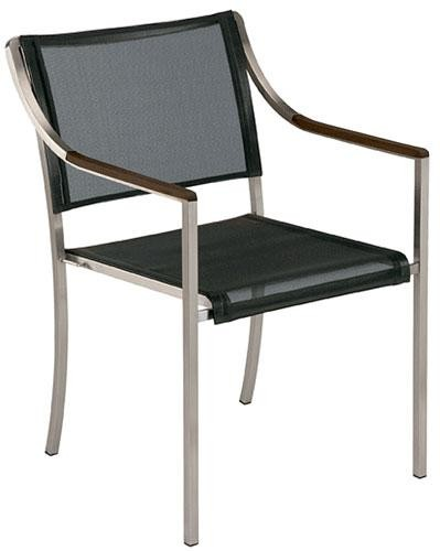 Barlow Tyrie Charcoal Quattro Armchair With Graphite Armrest