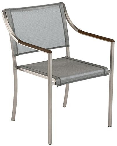 Barlow Tyrie Quattro Armchair Platinum With Graphite Armrest