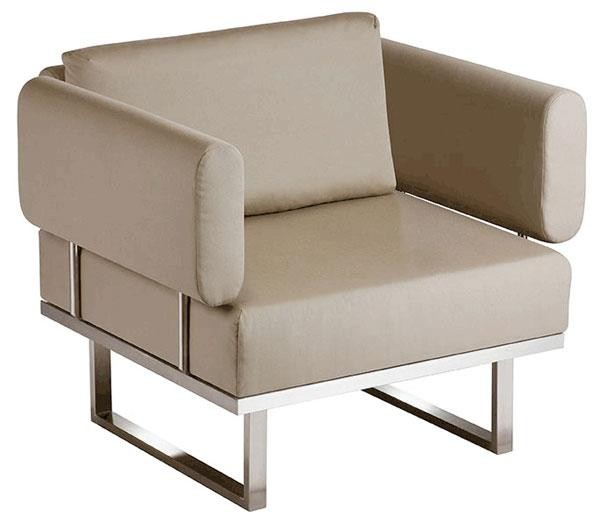Barlow Tyrie Mercury Deep Seating Armchair Taupe