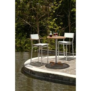 Barlow Tyrie Equinox High Dining Armchair Titanium